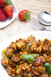 Stir-fryed meat and bell peppers Royalty Free Stock Photography