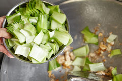 Stir frying Stock Image