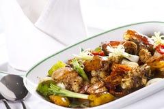 Stir mix seafood Stock Image