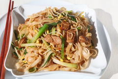 Stir rice noodles Royalty Free Stock Images