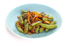 Stir peas ans carrot Stock Photography