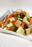 Stir tofu and vegetables Royalty Free Stock Photos
