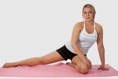 Stirata di yoga Fotografie Stock