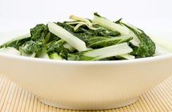 Stire braadde Chinese Groente (bok choy) stock afbeeldingen