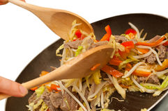 Stirfry beef chow mein Stock Image