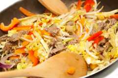 Stirfry beef chow mein Stock Images