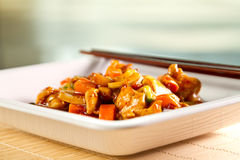 Stirfry chicken Stock Photography