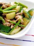 Stirfry de groenten van de kip Stock Afbeeldingen