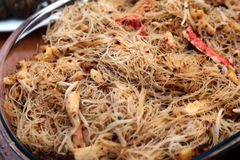 Stirfry vermicelli Royalty Free Stock Photography
