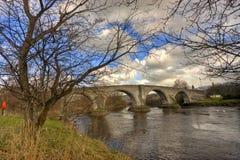 Stirling Bridge. Scenic view of Stirling Bridge over river Forth, Scotland Stock Images