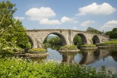 Stirling bridge in Scotland. Stirling Bridge, Scotland, scene of the historic Battle of Stirling Bridge where Scots led by William Wallace defeated the English Stock Photography