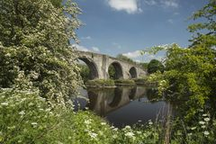 Stirling bridge Scotland. Stirling Bridge, Scotland, scene of the historic Battle of Stirling Bridge where Scots led by William Wallace defeated the English in Stock Photo