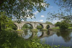 Stirling Bridge Scotland. Stirling Bridge, Scotland, scene of the historic Battle of Stirling Bridge where Scots led by William Wallace defeated the English in Royalty Free Stock Photos