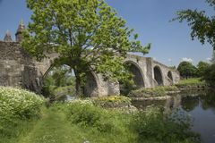 Stirling bridge scotland. Stirling Bridge, Scotland, scene of the historic Battle of Stirling Bridge where Scots led by William Wallace defeated the English in Stock Photos