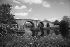 Stirling bridge vintage look. Stirling Bridge, Scotland, scene of the historic Battle of Stirling Bridge where Scots led by William Wallace defeated the English Stock Image