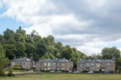 Stirling Castle is één van de grootste en belangrijkste kastelen in Schotland Schotland het Verenigd Koninkrijk Europa royalty-vrije stock foto