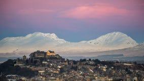 Stirling Castle αμέσως πριν από την ανατολή Στοκ Εικόνα