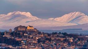 Stirling Castle μετά από την ανατολή Στοκ Εικόνα