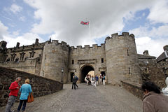 Stirling Castle. Friday, July 8 2011:Tourist groups are visiting the Stirling Castle, in Scotland, UK Royalty Free Stock Images