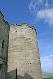 Stirling Castle. Exterior of turret on Stirling Castle with blue sky and cloudscape background, Scotland stock images