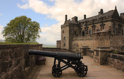 Stirling castle canon Royalty Free Stock Photos