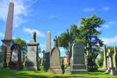 Stirling castle graveyard. The graveyard at stirling castlewith old tombstones Stock Photos