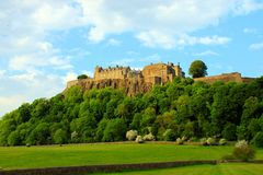 Stirling Castle on hill stock image