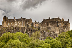 Stirling castle. An overcast day in Scotland Royalty Free Stock Photos