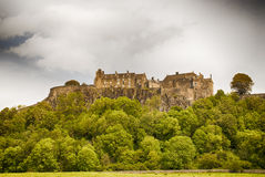 Stirling castle. An overcast day in Scotland Royalty Free Stock Images