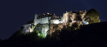 Stirling castle. A picture of the stirling castle by night Stock Images