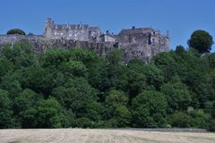 Stirling Castle, Scotland. Viewed from below. royalty free stock images
