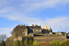 Stirling Castle. View of Stirling castle from the Church of the Holy Rude graveyard Stock Photos
