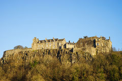 Stirling Castle from the West in late afternoon winter sunshine. Central Scotland, UK Stock Images
