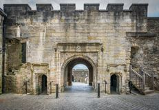 Entrance gate to the Stirling Castle, Scotland. stock image