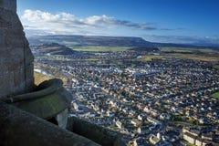 Stirling da Wallace Monument in Scozia Fotografie Stock Libere da Diritti