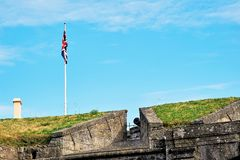 Stirling e monumentos a Robert o Bruce e o William Wallace, Escócia foto de stock