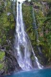 Stirling Falls, 2de langst in Milford-Geluid Stock Foto