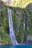 Stirling Falls, 2de langst in Milford-Geluid Royalty-vrije Stock Afbeelding