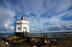 Stirling Point Lighthouse, Bluff. The Lighthouse at Stirling Point, Bluff, South Island, New Zealand Royalty Free Stock Image