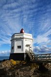 Stirling Point Lighthouse, Bluff, New Zealand. The Lighthouse at Stirling Point, Bluff, South Island, New Zealand Stock Images