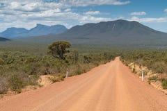Stirling Range National Park, Western Australia. Dirty road into the Stirling Range National Park close to Mount Barker, Western Australia Royalty Free Stock Photo