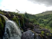 Stirling,  Scotland. Awesome waterfall in Stirling  district Royalty Free Stock Image