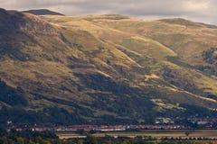 Stirling sotto le montagne Immagini Stock Libere da Diritti