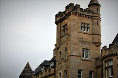 Stirling, Stirlingshire / Scotland - August 14 2018: Airthrey Castle is a landmark on the Stirling University campus. Helping to make this one of the most stock images
