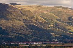 Stirling under the mountains Royalty Free Stock Images
