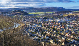 Stirling from Wallace Monument Stock Photography