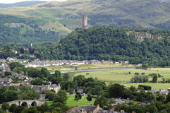 Stirling, Wallace Monument Immagine Stock