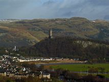 Stirling William Wallace Monument arkivbild
