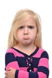 Stirnrunzeln-Gesicht stockfoto