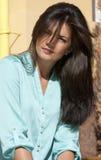 Stirnrunzelnfrau Lizenzfreies Stockfoto
